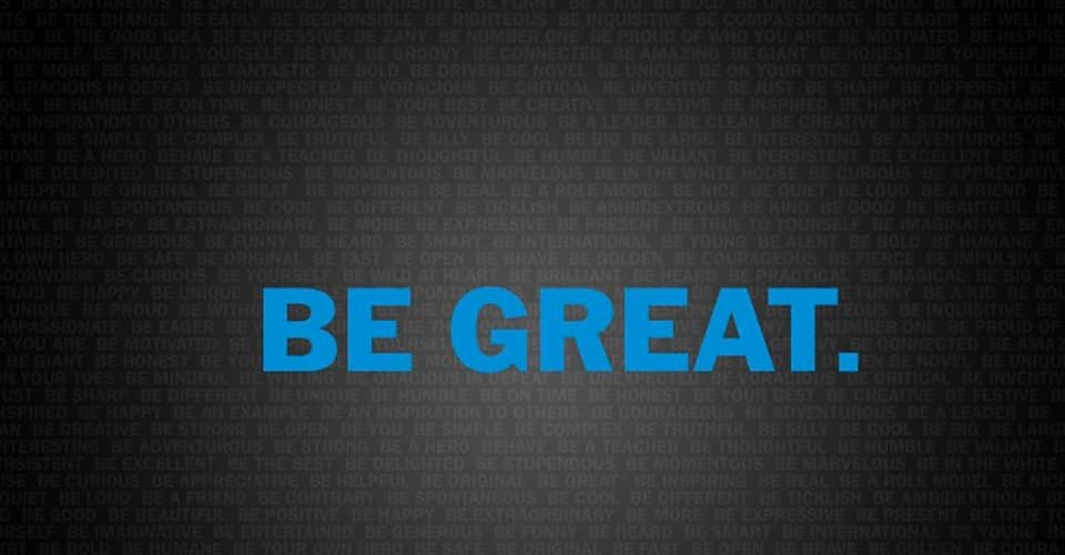 BE GREAT Banner for Boys and Girls Club