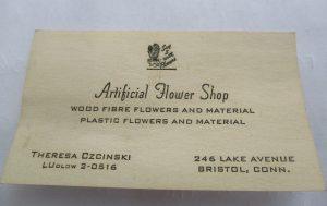 Artificial Flower Shop Business Card