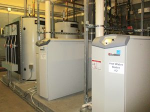 Two new hot water heaters at Bristol Central High School