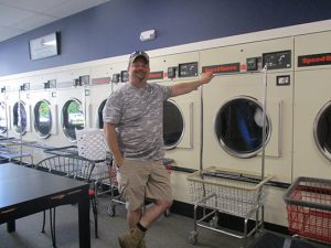 Mike, a long-time customer of Dee's Cleaners and Laundromat