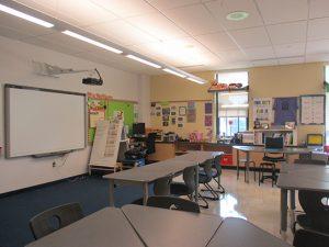 A classroom at West Bristol School