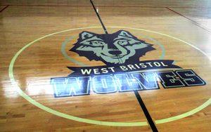 West Bristol School gym floor.