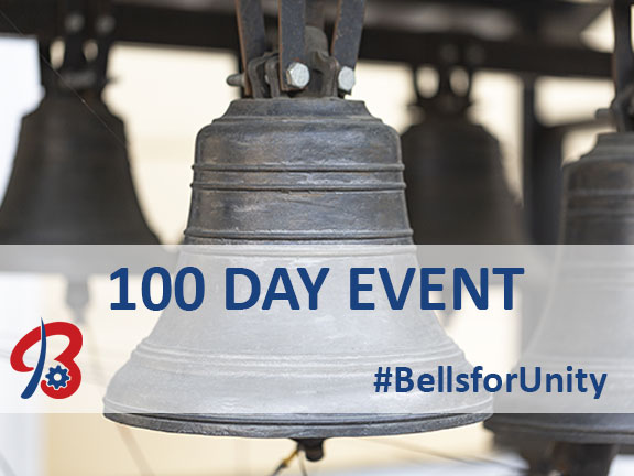 100 Day Bell Ringing Event Graphic