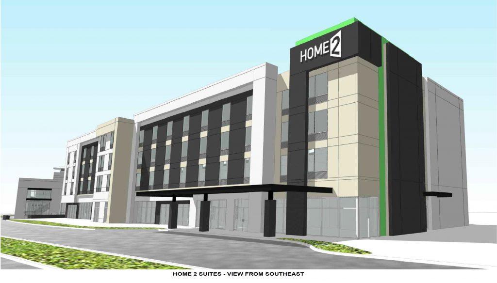 Home2 suites building rendering