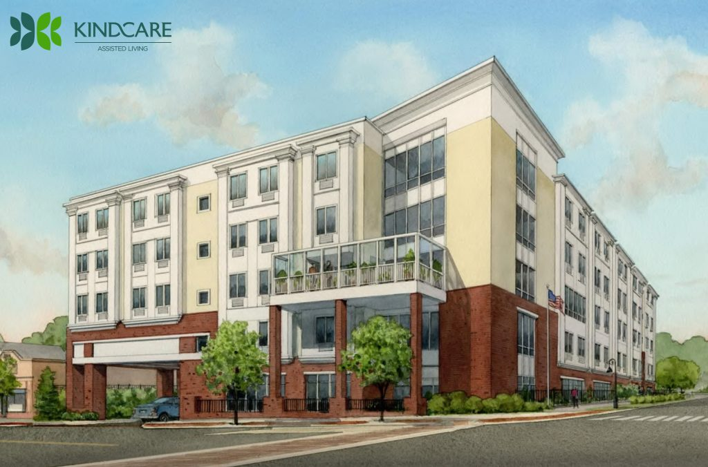 Rendering of KindCare assisted living building
