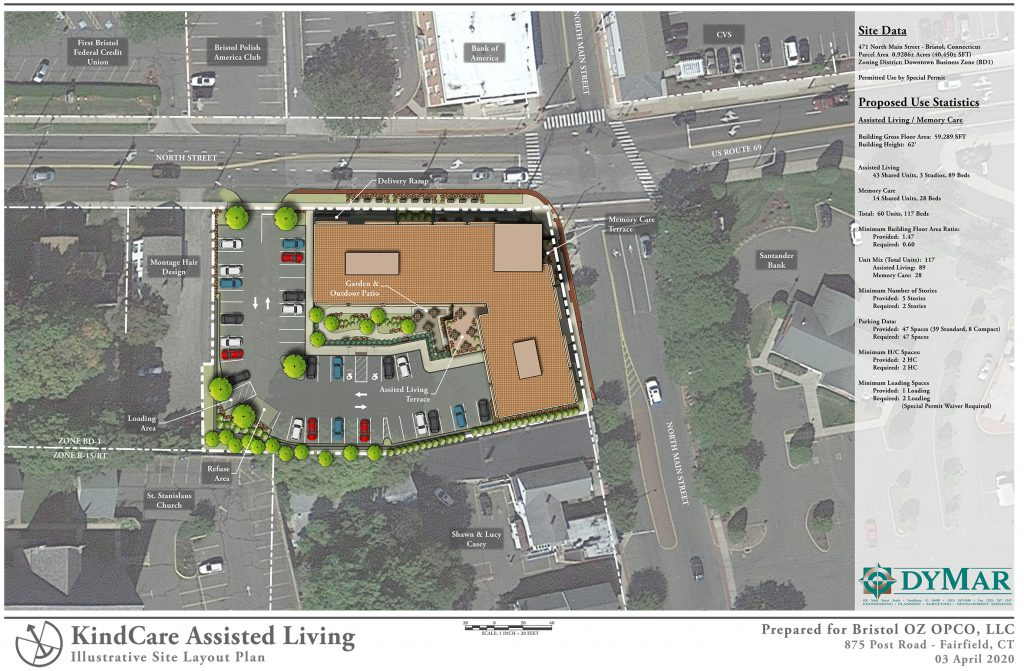 KindCare assisted living site map