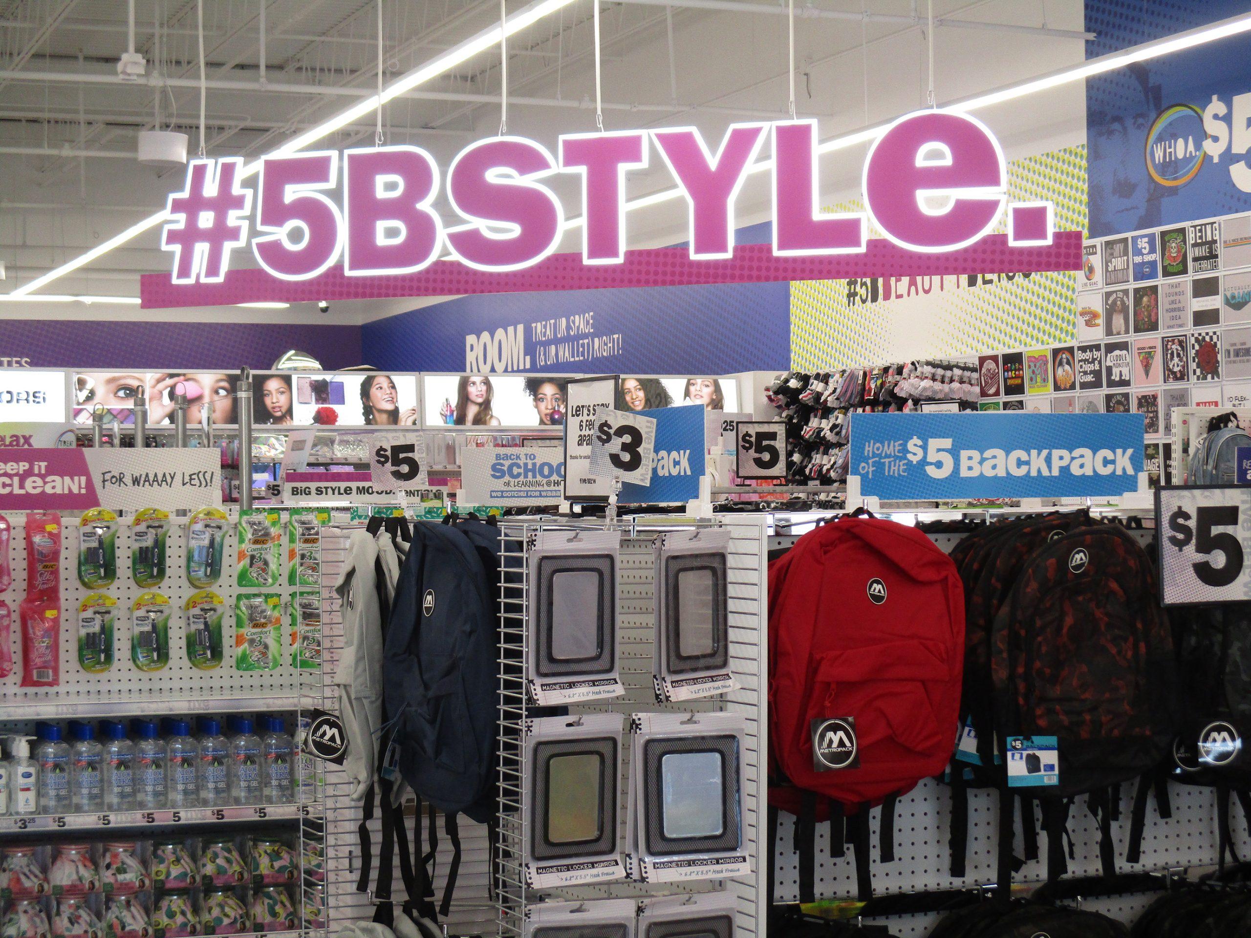 Photo of inside of Five Below store