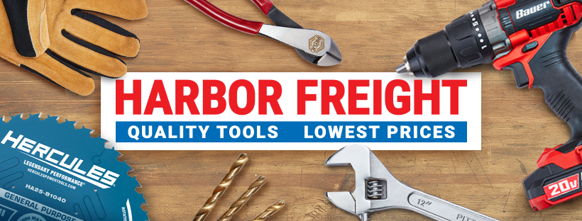 Harbor Freight Tools banner graphic