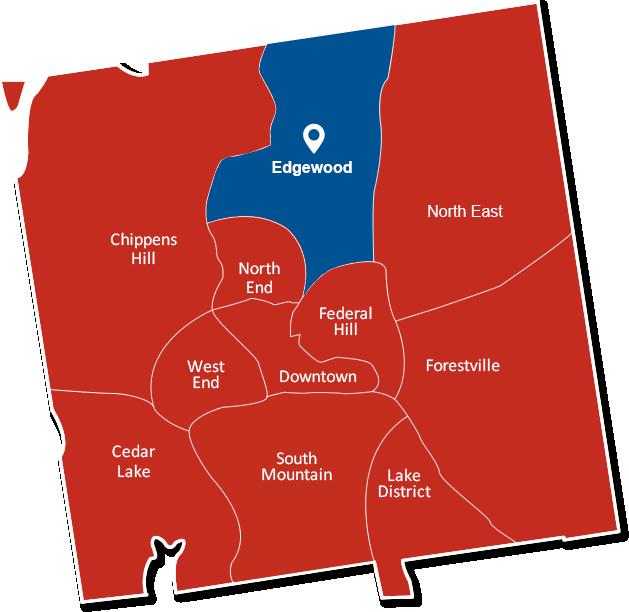 Edgewood Bristol Connecticut map graphic