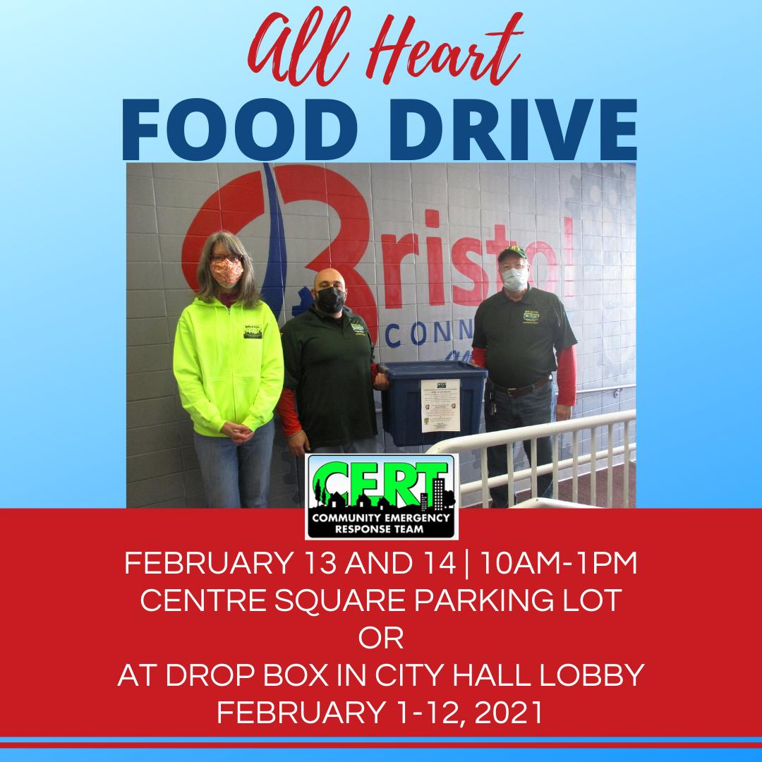 Bristol CERT Team All Heart Food Drive