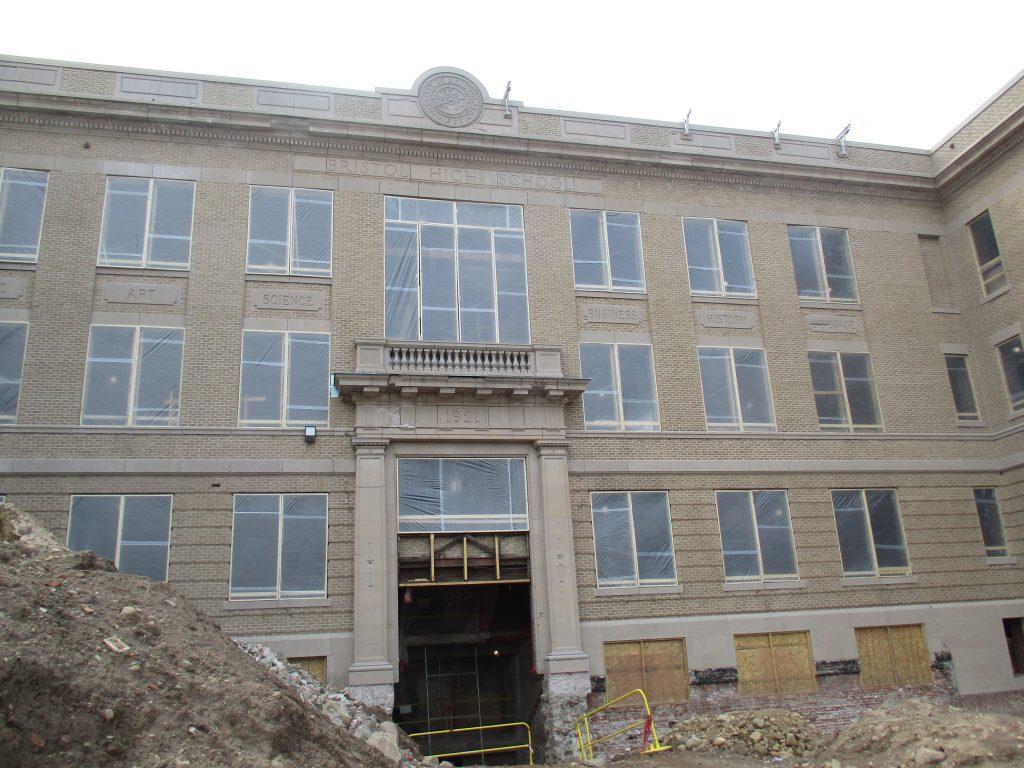 Photo of renovation of Memorial Boulevard Intradistrict Arts Magnet School