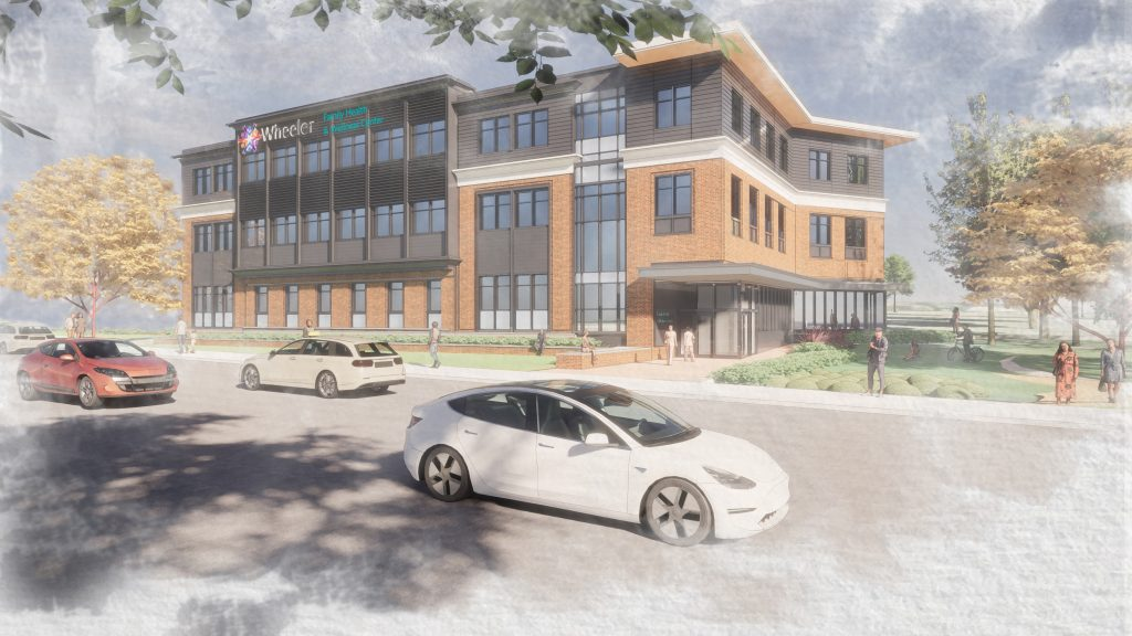 Wheeler Health Center at Centre Square building rendering